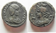 Ancient Coins -  Egypt. Alexandria under Julia Maesa (Augusta, 218-224/5) Billon tetradrachm (21mm, 12.30g).