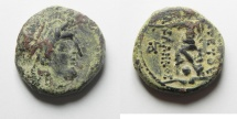 Ancient Coins - Nabatean Kingdom.  Aretas III (84-71 BC). Damascus mint. AE 20mm