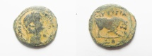 Ancient Coins - EGYPT. ALEXANDRIA. CLAUDIUS I  AE DIOBOL