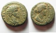 Ancient Coins - Judaea. Aelia Capitolina under Lucius Verus and Faustina Junior (AD 161-169). AE 24mm, 17.08g.