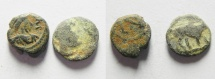 Ancient Coins - LOT OF 2 ROMAN AE 4 COINS