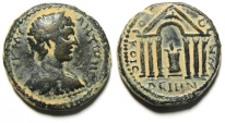 Ancient Coins - Decapolis. Dium under Caracalla (AD198-217). AE 29mm, 13.27g. Struck in civic year 268 (AD 205/6).