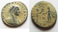 Ancient Coins - AURELIAN AE ANTONINIANUS. AS FOUND. NICE DESERT PATINA