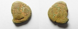 Ancient Coins - Elymais Dynasty Orodes II , Late 2nd Century A.D. - Æ Drachm , very rare