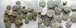 Ancient Coins - LOT OF 30 ANCIENT BRONZE COINS. MOSTLY JUDAEAN PRUTOT