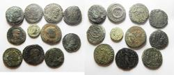 Ancient Coins - LOT OF 11 ROMAN BRONZE COINS. NICE