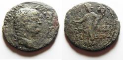 Ancient Coins - Judaea,Herodian dynasty. Agrippa II under Vespasian. Caesarea Maritima mint. AE30