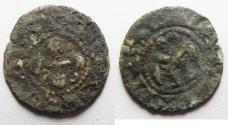 World Coins - AS FOUND: MEDIEVAL. France. Bishops of Valence. 12th-13th century. AR denier