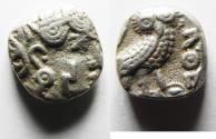 Ancient Coins - ARABIA, Southern. Saba'. Late 4th–mid 2nd centuries BC. AR nṣf – Unit