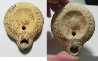 Ancient Coins - ANCIENT ROMAN. TERRACOTTA OIL LAMP. 100 - 200 A.D