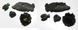 Ancient Coins - ANCIENT EGYPT, LOT OF 4 AMULETS. 600 - 300 B.C