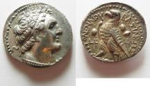 Ancient Coins - Egypt. Ptolemaic kings. Ptolemy V  (199 BC) AR tetradrachm (26mm, 13.87g). Salamis mint. Struck in year  (199 BC).