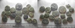 Ancient Coins - LOT OF 15 ANCIENT BRONZE PROVINCIAL COINS. MOSTLY BIBLICAL