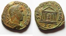 Ancient Coins - Commemorating the 1000th Anniversary of Rome: Philip I. AD 244-249. Æ Sestertius