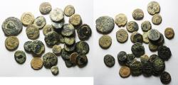Ancient Coins - LOT OF 31 ROMAN COINS, BRONZE, MOSTLY AE 4