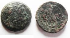 Ancient Coins - PTOLEMAIC KINGDOM. PTOLEMY IV AE 24. TYRE . RARE TYPE