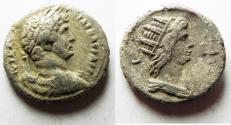 Ancient Coins - EGYPT. ALEXANDRIA. HADRIAN BILLON TETRADRACHM. Helios. HIGH QUALITY