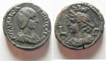 Ancient Coins -  Egypt. Alexandria under Julia Maesa (Augusta, 218-224/5) Billon tetradrachm (21mm, 12.30g).