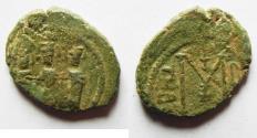 Ancient Coins - ARAB-BYZANTINE AE FALS. TIBERIAS MINT