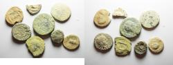 Ancient Coins - AS FOUND: LOT OF 7 BIBLICAL PROVINCIAL AE COINS