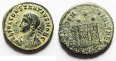Ancient Coins - ORIGINAL DESERT PATINA. CONSTANTIUS II AE 3