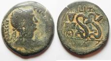 Ancient Coins - Egypt. Alexandria under Trajan (AD 98-117). AE drachm (33mm, 20.95g).