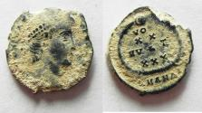 Ancient Coins - CONSTANTIUS II AE 4. AS FOUND