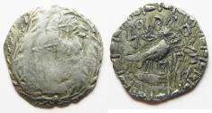 Ancient Coins - South Arabia. Saba'. AR unit (25mm, 5.40g). Struck 1st century BC-1st century AD. Imitating Athens 'New Style' coinage.