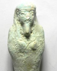 Ancient Coins - EGYPTIAN , ANCIENT FAIENCE USHABTI , 600 - 300 B.C - SHABTI