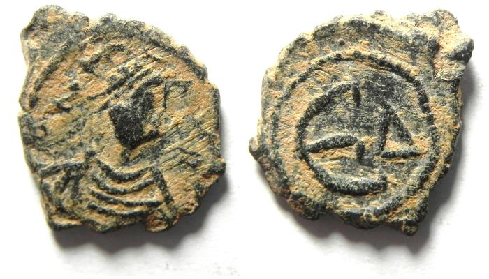 Ancient Coins - BYZANTINE , JUSTIN I AE PENTANUMMIUM, VERY NICE QUALITY