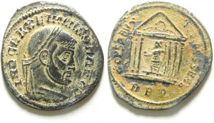 Ancient Coins - Maxentius. A.D. 307. Æ follis. Rome Mint.