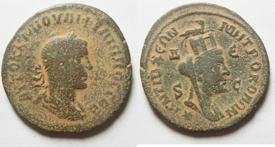 Ancient Coins - PHILIP I THE ARAB, Syria, Seleucia and Pieria, Antioch Æ 29