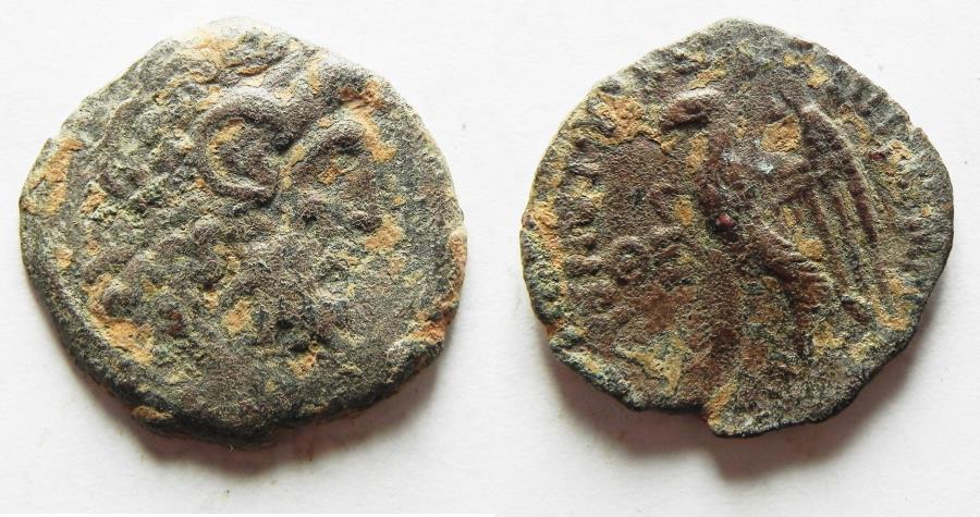 Ancient Coins - Ptolemaic Kingdom. Ptolemy VIII Euergetes II (Physcon). Second reign, 145-116 B.C. Æ. Cyrene.