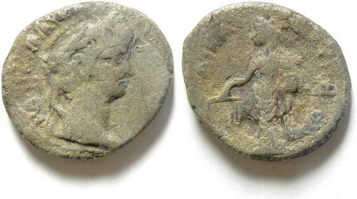 Ancient Coins - 26MM , 10.02 GM  EGYPT , ALEXANDRIA , NERO BILLON TETRADRACHM