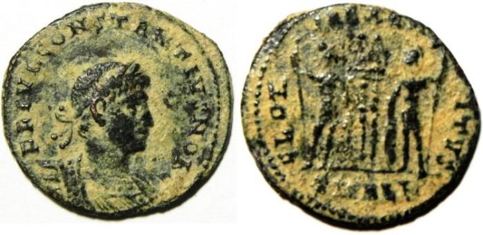 Ancient Coins - CONSTANTIUS II AE 3 ,NICE DESERT PATINA