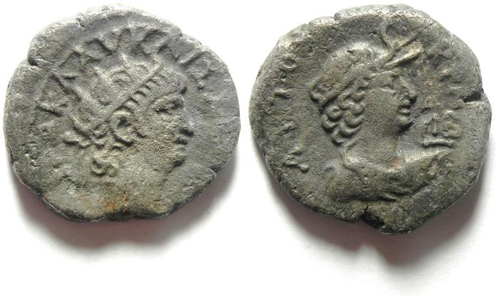 Ancient Coins - EGYPT , ALEXANDRIA , NERO , AR TETRADRACHM