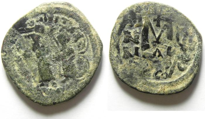 Ancient Coins - BYZANTINE : HERACLIUS FOLLIS , NICE over struck