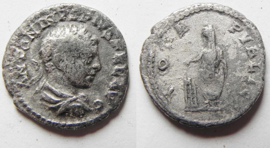 Ancient Coins - ELAGABALUS SILVER DENARIUS