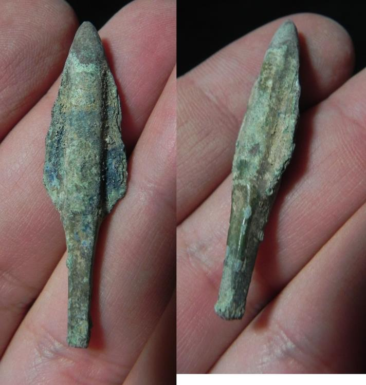 Ancient Coins - ANCIENT HOLY LAND, BRONZE ARROW HEAD, CANAANITE? 1400 B.C