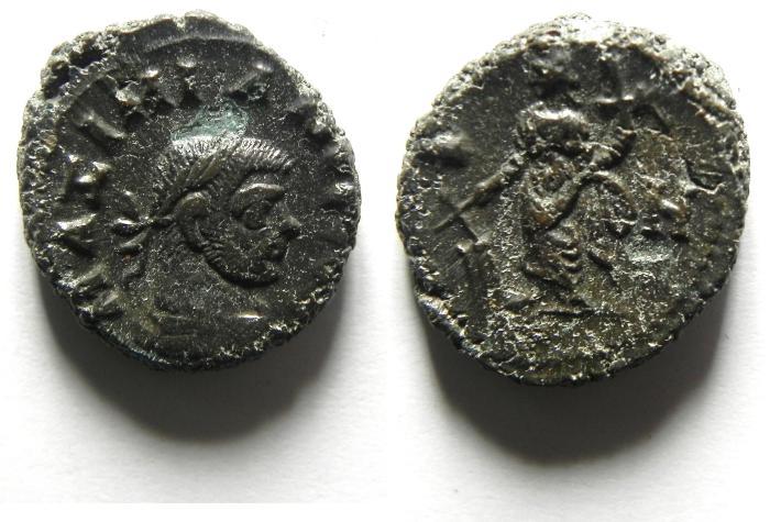 Ancient Coins - EGYPT , ALEXANDRIA POTIN TETRADRACHM , MAXIMIAN