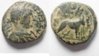 Ancient Coins - UNKNOWN BIBLICAL CITY COIN. ELAGABALUS AE 19