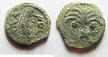 Ancient Coins - AS FOUND:JUDAEA. PROCURATORS, M. AMBIBULUS. 9-12 AD. AE PRUTAH