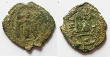 Ancient Coins - ARAB-BYZANTINE. AE FALS. TIBERIAS MINT