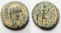Ancient Coins - Galilee. Caesarea Panias under Caracalla (AD198-217). AE 24mm, 11.38g. Struck in civic year 214 (210/1 AD).
