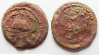 Ancient Coins - JUDAEA. HERODIAN DYNASTY. HEROD I THE GREAT AE 8 PRUTAH COIN