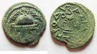 Ancient Coins - JUDAEA. HEROD I THE GREAT 8 PRUTOT COIN