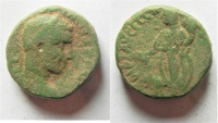 Ancient Coins - Samaria. Caesarea Maritima under Volusian (AD 251-253). AE 20mm, 13.71g.