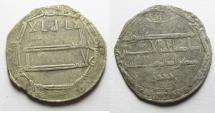 Ancient Coins - ISLAMIC. ABBASID SILVER DERHIM. AL MUHAMMADIYAH . AH151