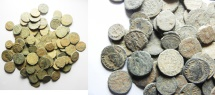 LOT OF 88 ROMAN AE COINS. NICE QUALITY AS FOUND