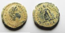 Ancient Coins - Theodosius (379-395 A.D.) AE 4 AS FOUND